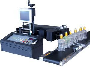 High Speed Wine Glass Etching Machine , Automatic Wine Bottle Engraving Machine